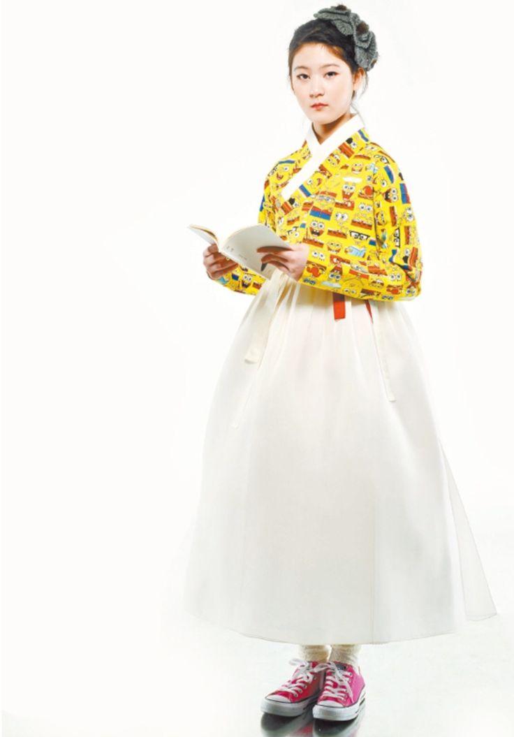 한복 Hanbok : Korean traditional clothes[dress] #Spongebob #modernhanbok