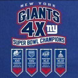 #NYG 4 time #superbowl champions - #drivefor5 - NY Giants