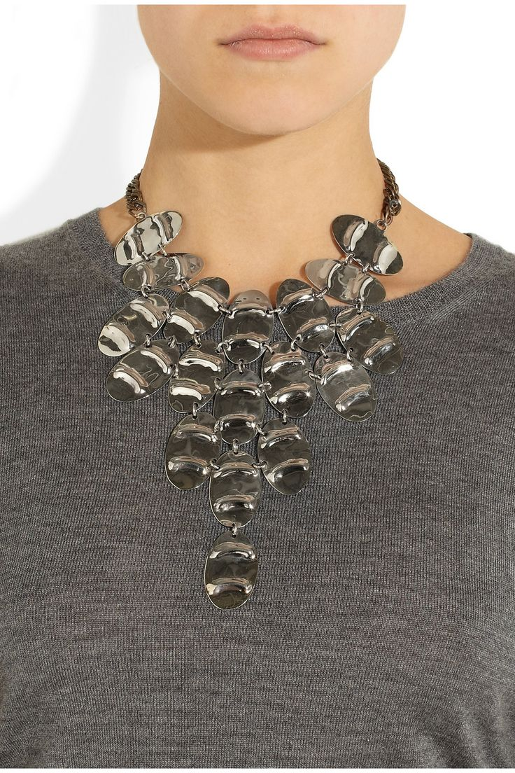 Anndra Neen|Streak Cuirass silver-tone necklace|NET-A-PORTER.COM