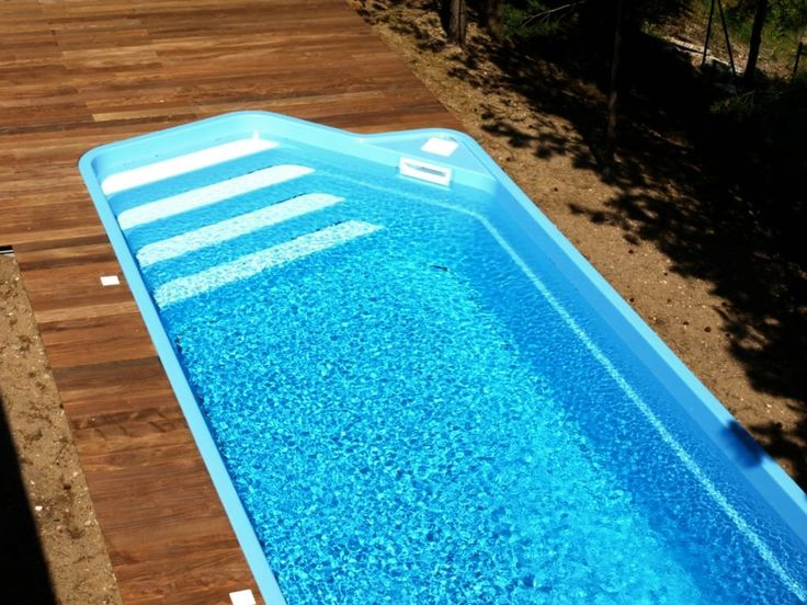 Best 25 rectangle above ground pool ideas on pinterest - Diy fibreglass swimming pool installation ...