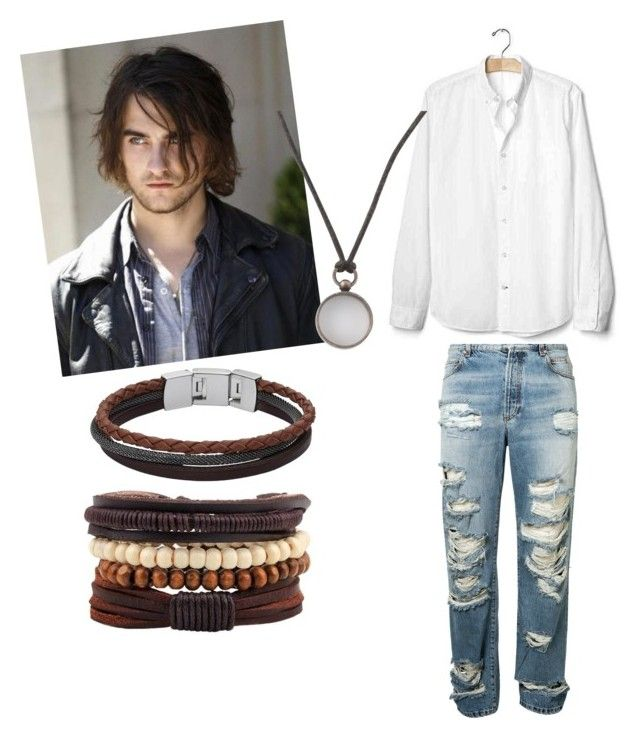"""Untitled #380"" by queen-olmos on Polyvore featuring Balmain, Gap, Maison Margiela, men's fashion and menswear"