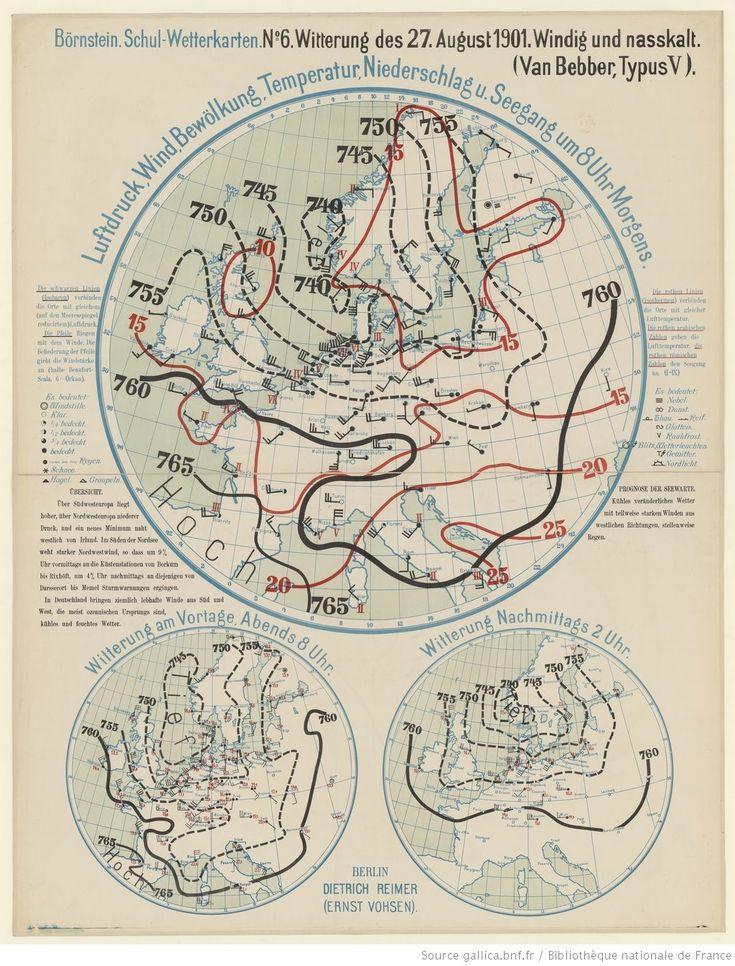 Carte Bürnstein Schul-Wetterkarten