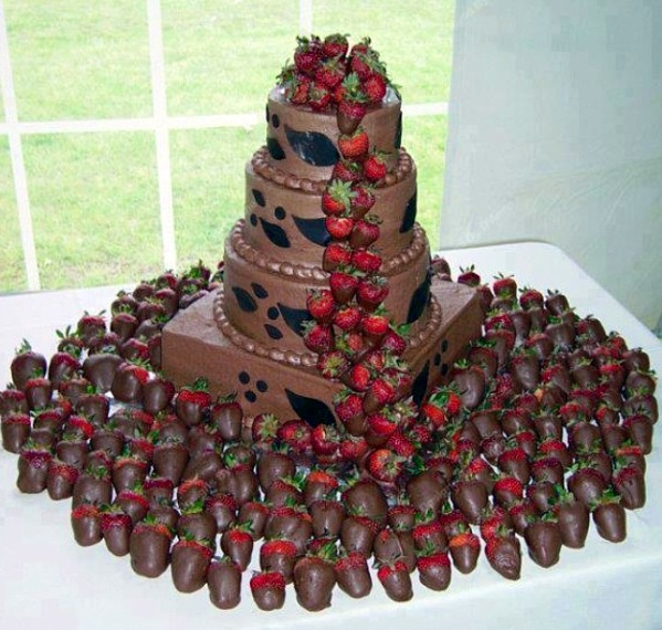Chocolate Fondue Wedding Cake