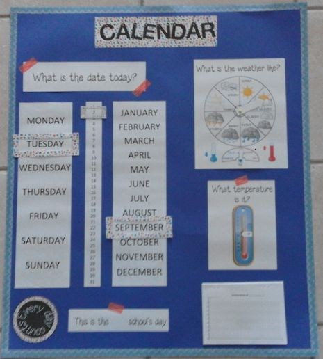 calendrier rituel anglais date météo chaque jour compte