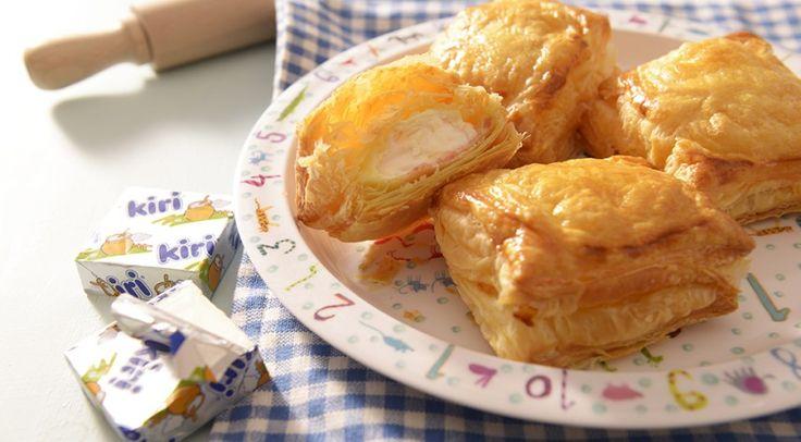 Les petits feuilletés au coeur Kiri, une recette incontournable pour toute la famille ! #kiri #recette #feuillete #kids #food #fromage #cream #cheese