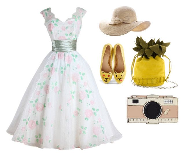 """""""Spring in my step"""" by penkreitto on Polyvore featuring Charlotte Olympia and Kate Spade"""