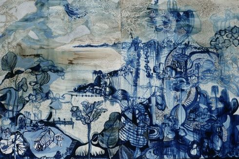 Artwork by Joshua Yeldham: 'Half Moon River'