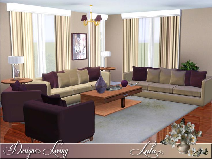 An Elegant Living Room In Pastels. 2 Variations Included Found In TSR  Category U0027Sims 3 Living Room Setsu0027 Part 88