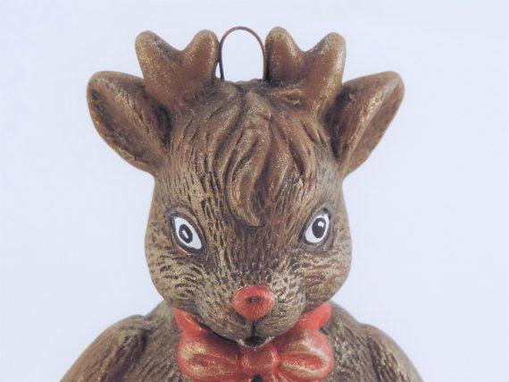 Creepy Vintage Reindeer Ornament by EmptyKit on Etsy