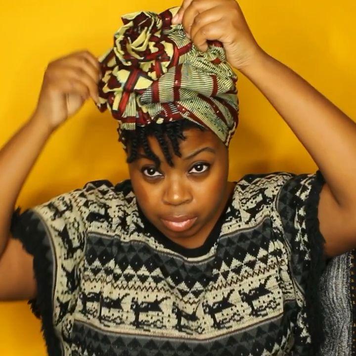 Shop Draped: Headwrap Tutorial  – farbe fürs gesicht & haare, haare, haare