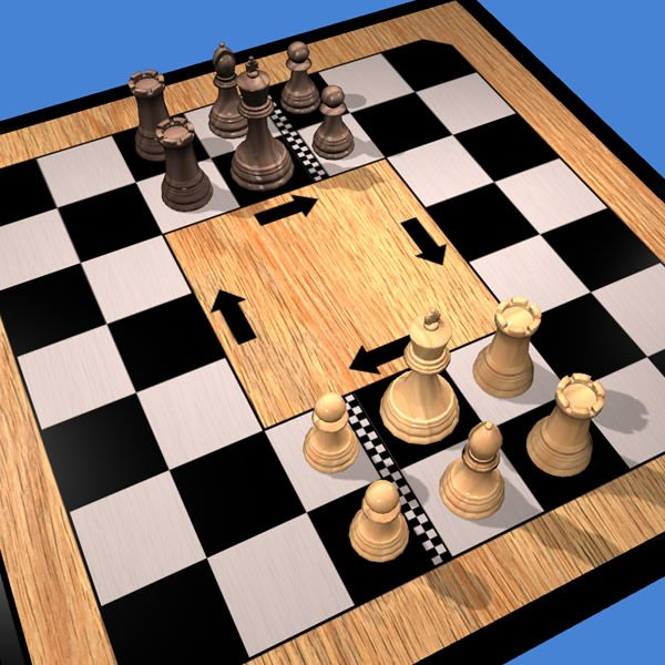 Play Rollerball Chess online 3D or 2D http://www.jocly.com/#/play/rollerball-chess