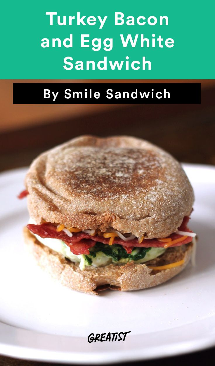 7. Turkey Bacon and Egg White Sandwich #greatist http://greatist.com/eat/copycat-starbucks-breakfast-recipes
