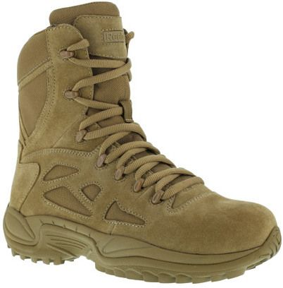 "Men's Reebok Work 8"" Rapid Response RB RB8977 Soft-Toe Military Boot"