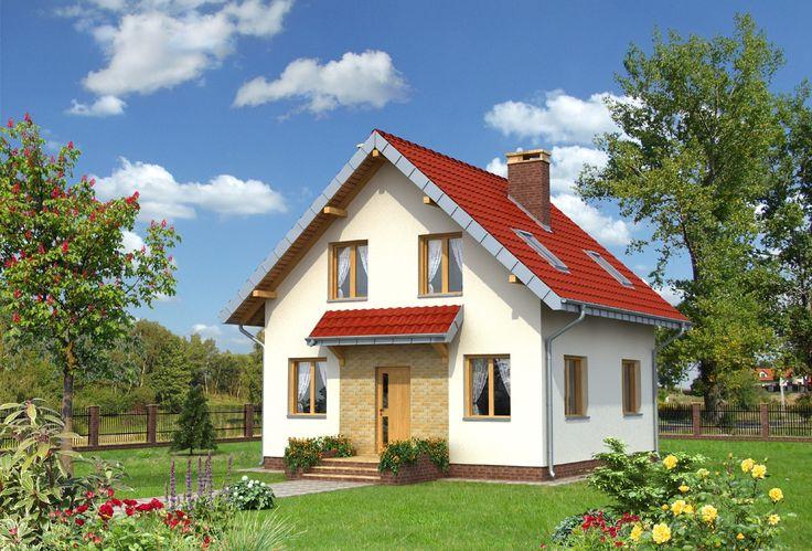 Projekt domu Smyk Solo Twist - mały domek, z wejściem od ściany szczytowej