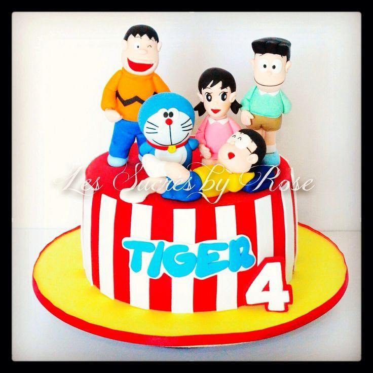 Cake Design Doraemon : Doraemon Cake...all sugar figurines www.facebook.com ...