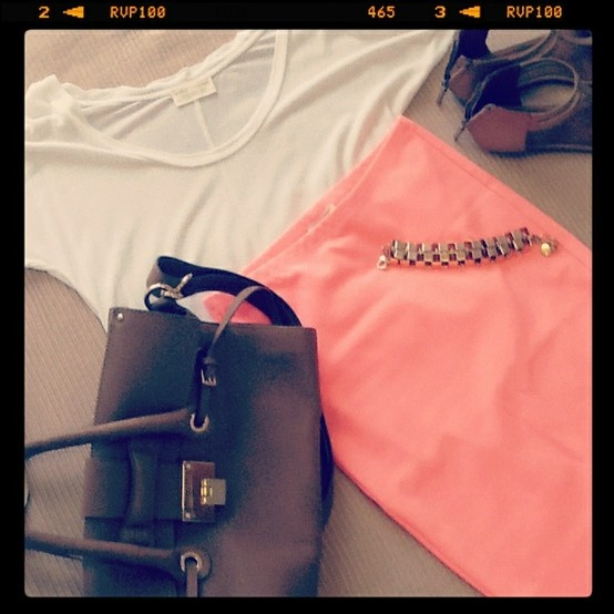 Today's neon look bought to you by @Witchery @Zara Lamey @Country Road @Jimmy Choo @_Mimco