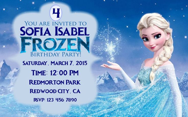 Free Frozen printable invitation. Ready to print. The dimensions of the image is 800px X 500px (~ 8.33 inch x 5.21 inches).
