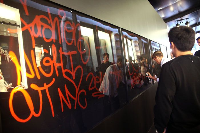 Chanel Tags SoHo Store With Digital Graffiti for Reopening Bash  An interior wall of the tents was a digital interactive graffiti space where guests could tag or write messages.