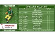 Atlanta Falcons Schedule Magnets