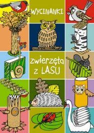 Wycinanki. Zwierzęta z lasu - jedynie 8,28zł w matras.pl