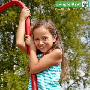 Jungle Gym Fireman Pole -can be used instead of a slide if you are short of space