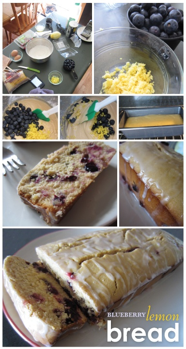 Lemon blueberry bread!  This sounds heavenly!