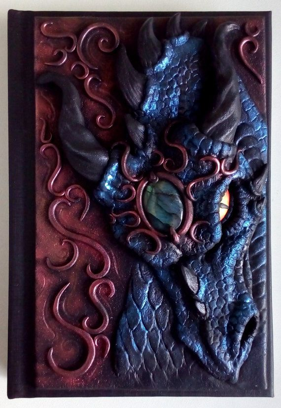 Dragon journal polymer clay journal notebook fantasy by ClaymanPL