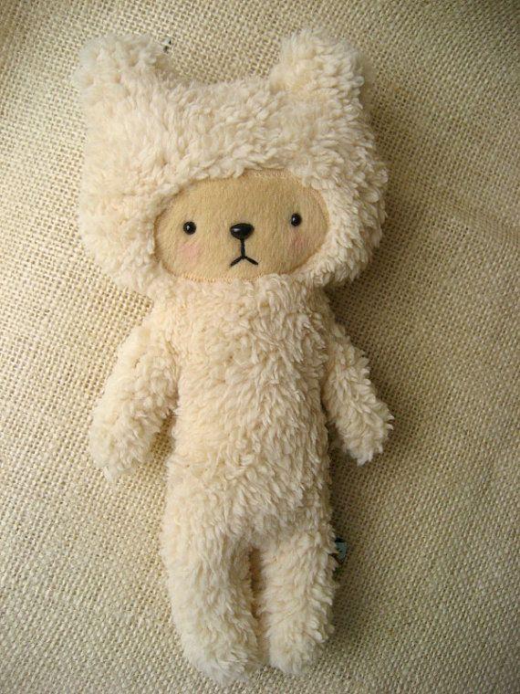 Sherpa Bear Plushie  by BijouKitty on Etsy