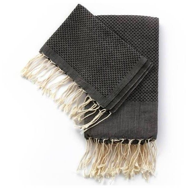 Jayson Home Paloma Towel Black Small By ($22) ❤ liked on Polyvore featuring home, bed & bath, bath, bath towels, bath towels & washcloths, turkish cotton washcloths, turkish washcloth, black wash cloths, cotton washcloths and black washcloths