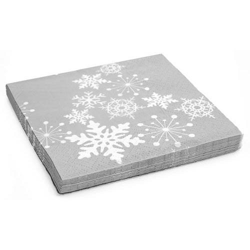 Christmas Snowflake Napkins 20 pack | Poundland