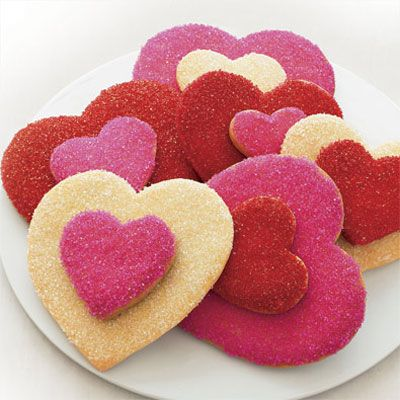 Layered heart sugar cookies