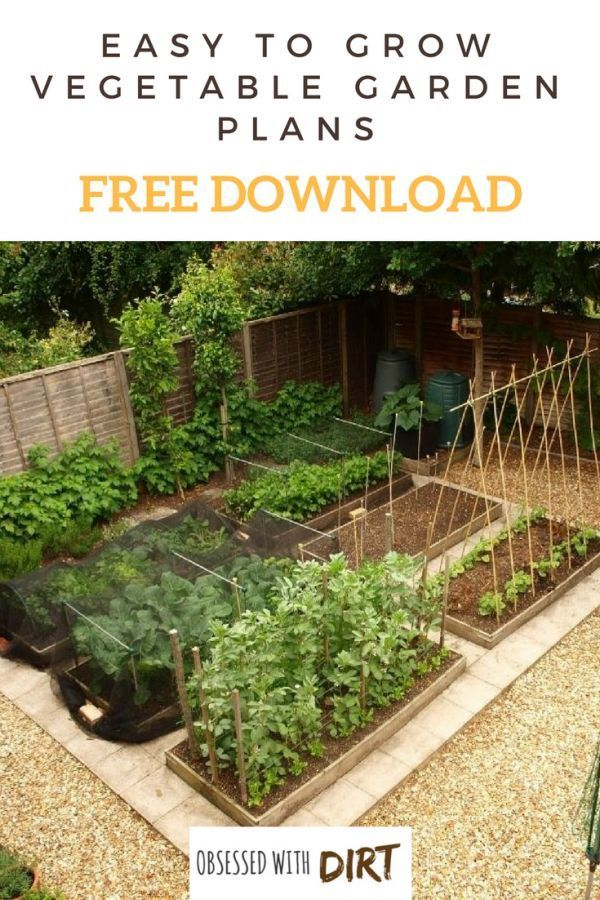 Free Vegetable Garden Layout, Plans and Planting Guides Gardening