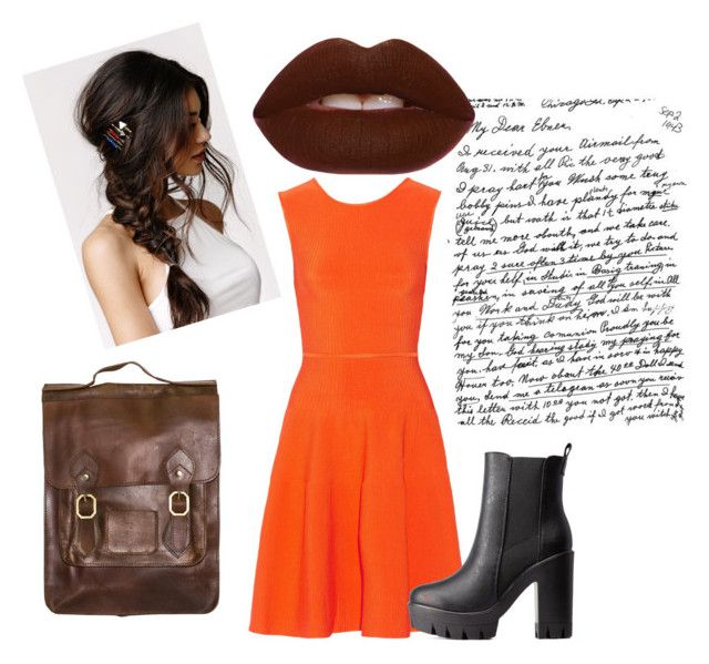 Raw Sienna by cata-caicedo on Polyvore featuring Issa, Charlotte Russe, Lime Crime and With Love From CA