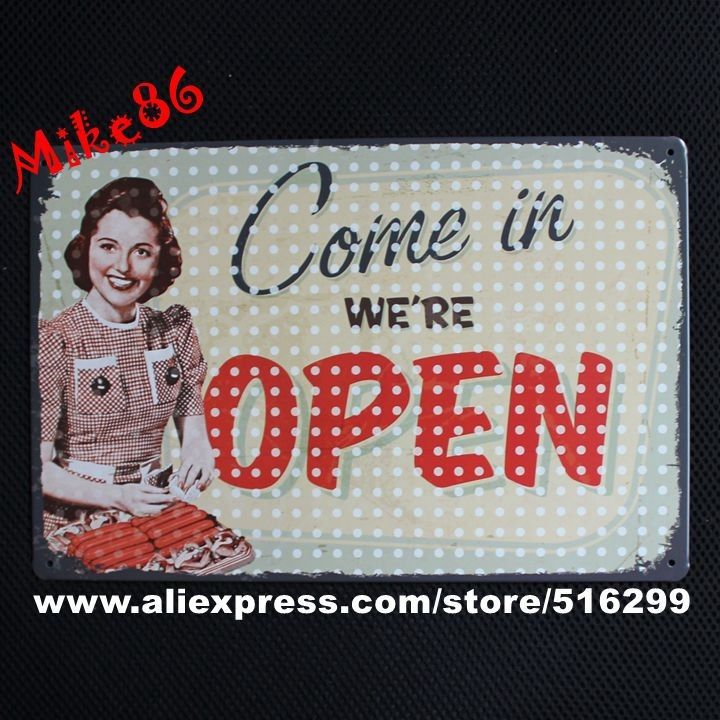 [Mike86] vieni siamo Aperti Targa in metallo decorazione Della Parete Bar House Metallo Dipinto B 204 ordine Della Miscela 20*30 CM in questa serie di appendere foto di qualità creativa, contratto, alla moda.e 'essenziale per bar, casa di caffè, tuttida su AliExpress.com | Gruppo Alibaba