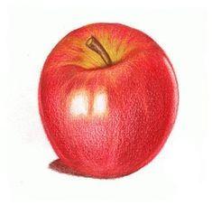 Wenn Sie einen Apfel zeichnen lernen möchten, sin…