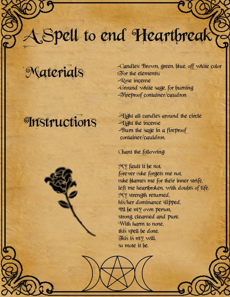 A spell to end heart break for those of you who need it