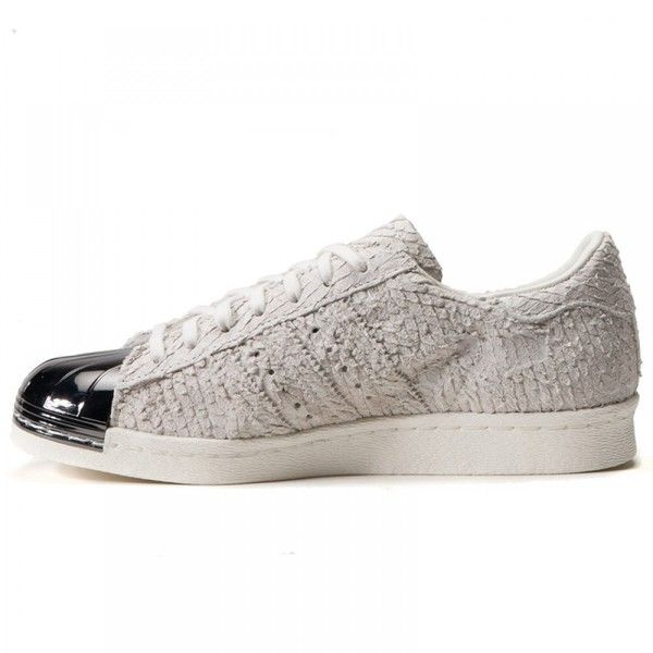 """ADIDAS SUPERSTAR 80S W """"METAL TOE"""" (OFF WHITE) ❤ liked on Polyvore featuring shoes, pumps, 80s shoes, adidas, patterned pumps, print shoes and off white shoes"""