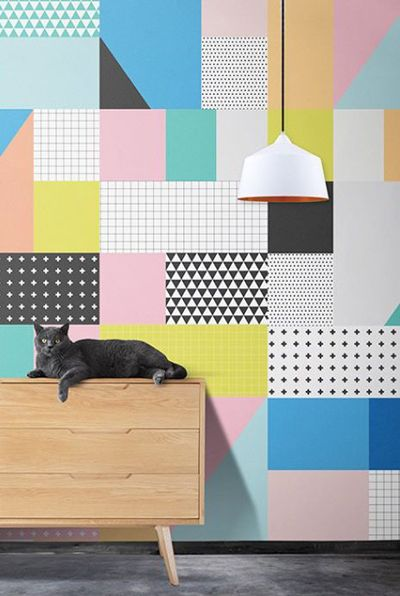 Here are a few more contemporary designs that capture the bold graphics and pastels of the 1980's but with a brand new modern feel.