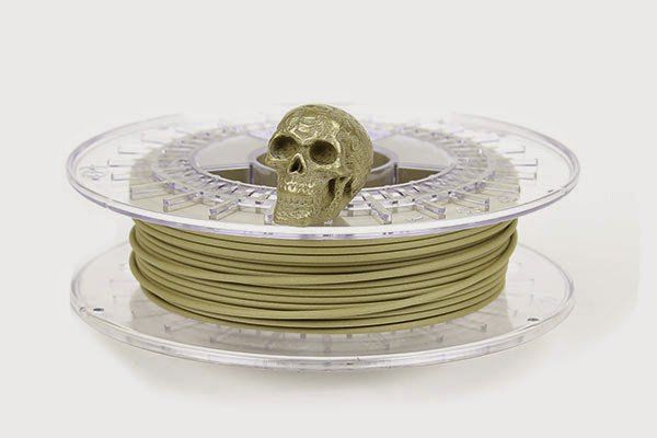 ColorFabb's BrassFill filament for FDM printers, comes on the heels of BronzeFill and CopperFill.