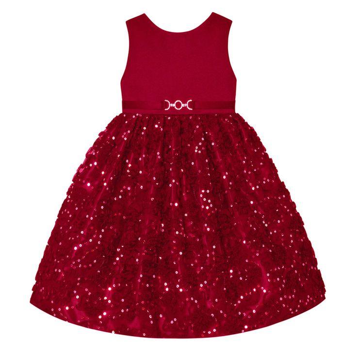 Girls 7-16 & Plus Size American Princess Sequin Soutache Skirt Dress, Size: 16 1/2, Med Red