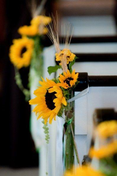 Girasoles para decorar sillas