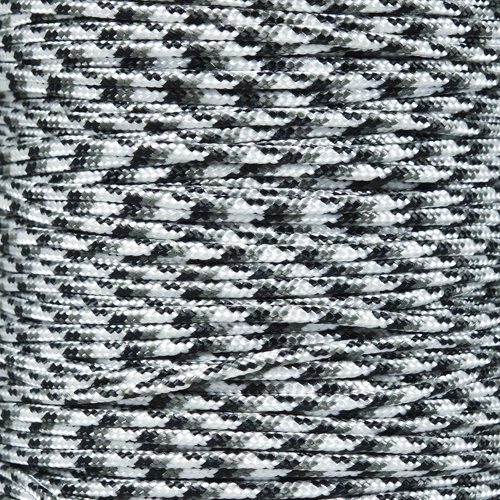 325 3-Strand Commercial Grade Paracord:   325 paracord is a commercial grade tactical cord composed of three inner nylon strands and a nylon outer core, similar to but smaller than 550 paracord. It has minimum break strength of 325 lbs. and a diameter of 3 mm. It won't rot, mildew or fade. The smaller size makes 325 paracord a great alternative for projects where 550 paracord is bigger than your needs. 325 paracord has many of the same popular practical uses as 550 paracord: survival b...