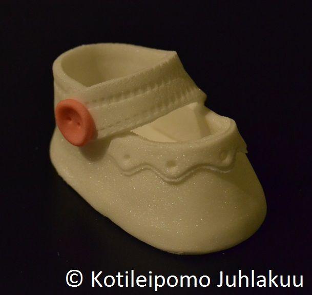 Fondant baby shoe