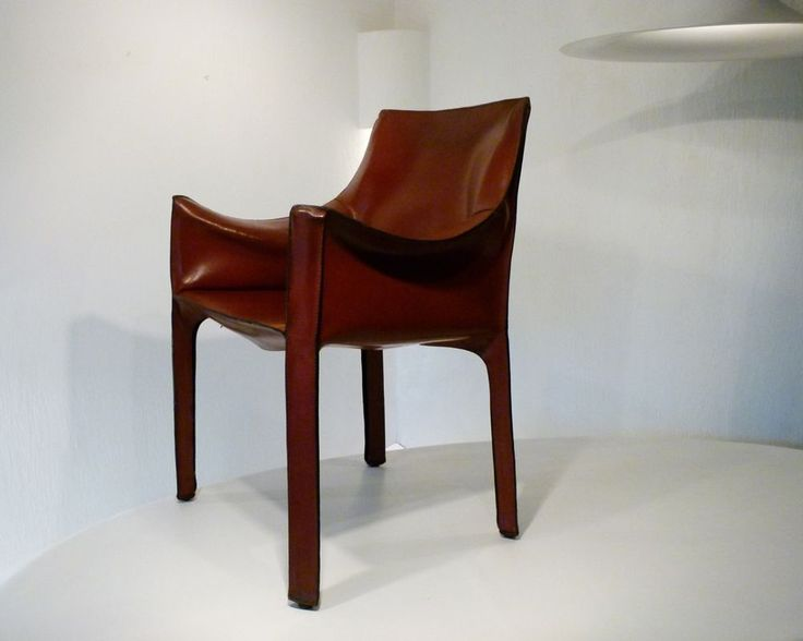 CASSINA CAB 413 Stuhl Designklassiker MARIO BELLINI Arm Chair Kernleder  70/80er In Möbel U0026