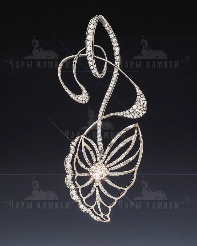 """Modern""  Material: white gold 750, diamond"