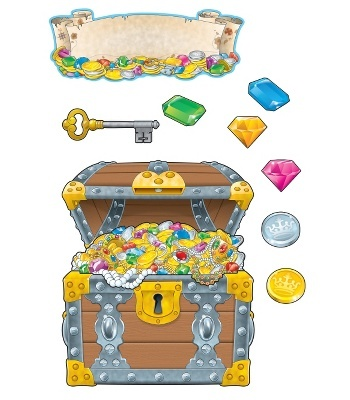 #CDWishList-Big Treasure Chest Bulletin Board Set - Carson Dellosa Publishing Education Supplies