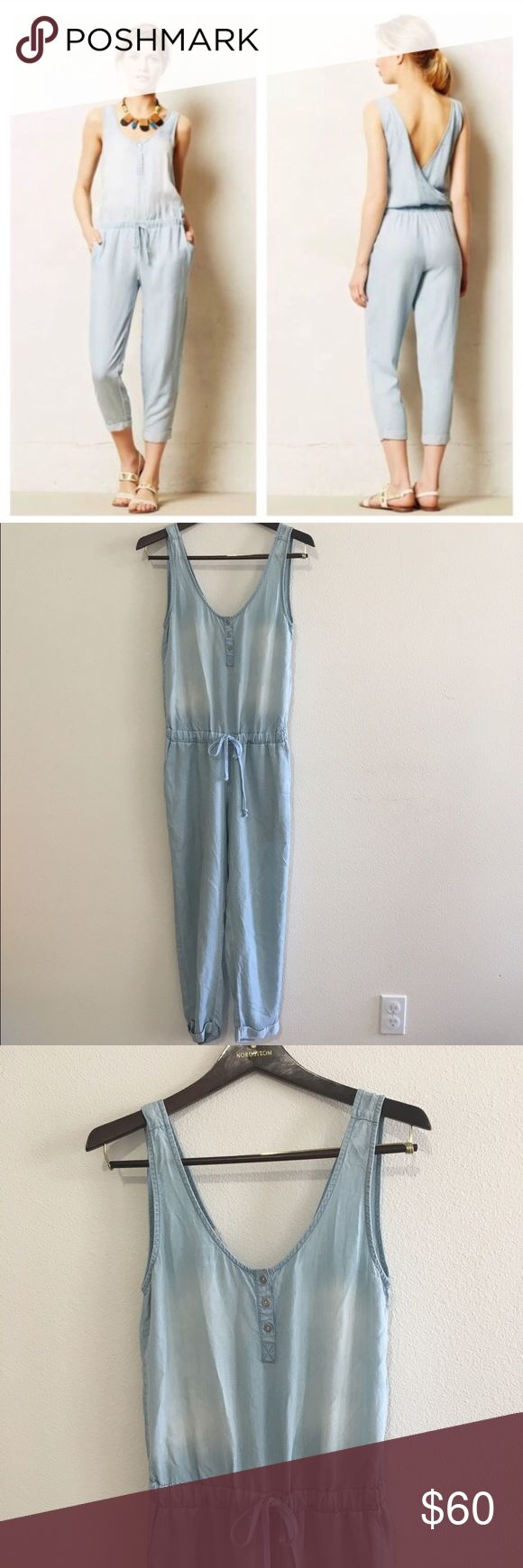 Cloth & Stone Chambray Jumpsuit Chambray Jumpsuit by Cloth & Stone. Sold at Anthropologie. Excellent barely worn condition. Size S   For measurements or additional information please comment below! We are fast to respond! Ships same day/next day M-SAT before 3PM PST. Please, no price discussion in comment. No trades, thank you! We accept reasonable offers using the offer button only. Thank you for supporting our dreams  Anthropologie Pants Jumpsuits & Rompers