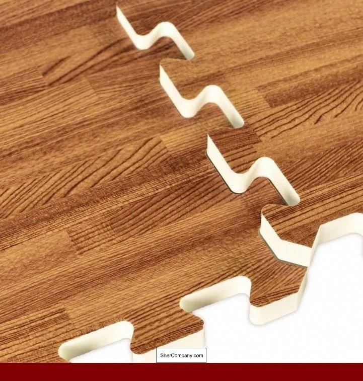 Faux Hardwood Interlocking Foam Tiles, Interlocking Laminate Flooring