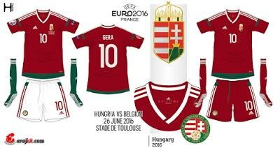 Hungary home kits for Euro 2016.