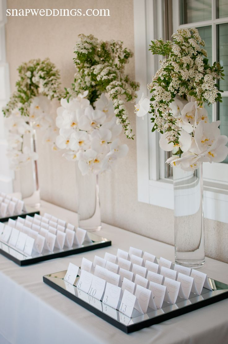 romantic modern place card table